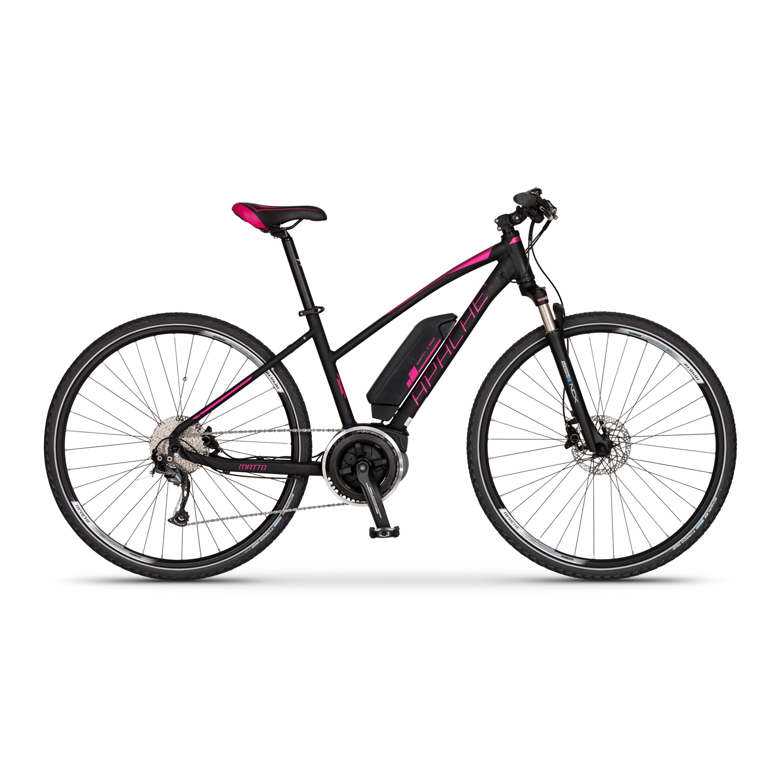 Elektrokolo cross Apache Matto lady Bosch Active Plus 400 Wh černá 2018